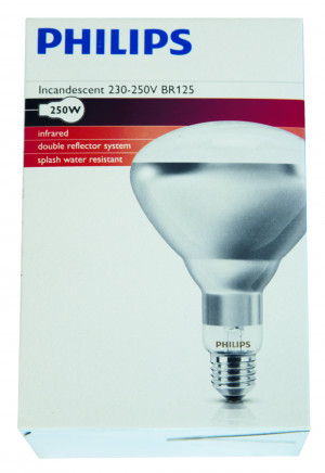 Ampoule Infrarouge Philips 250W, blanche