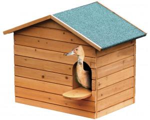 Nichoir à chicane bois grand modèle pour canards
